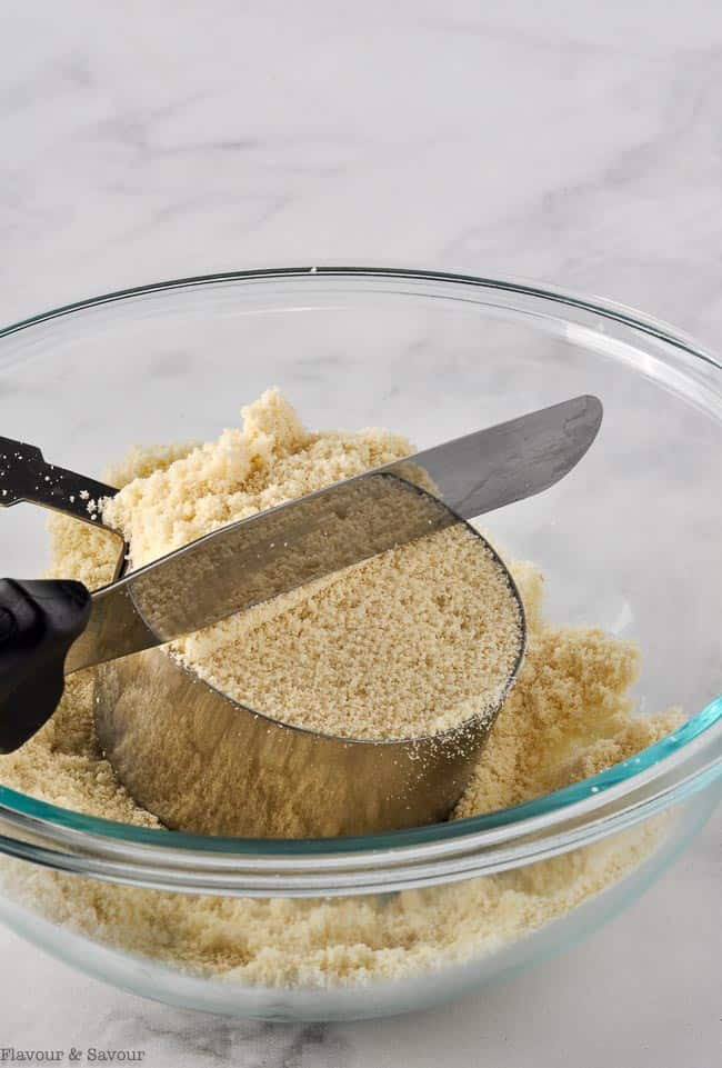 Measuring almond flour