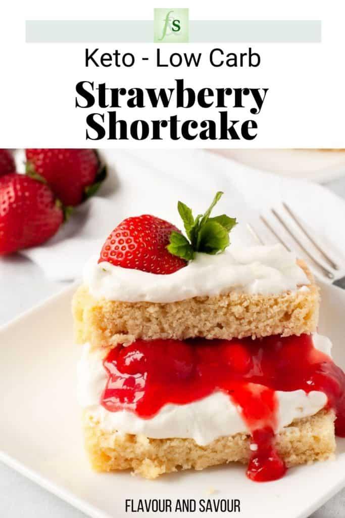 Keto Low-Carb Strawberry Shortcake