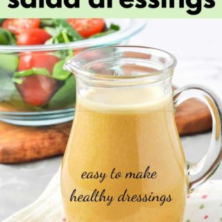 8 homemade salad dressings graphic