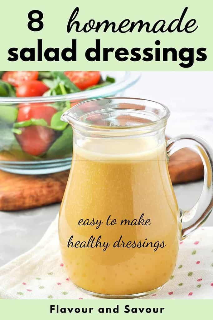 PInterest pin 2 for 8 homemade salad dressings