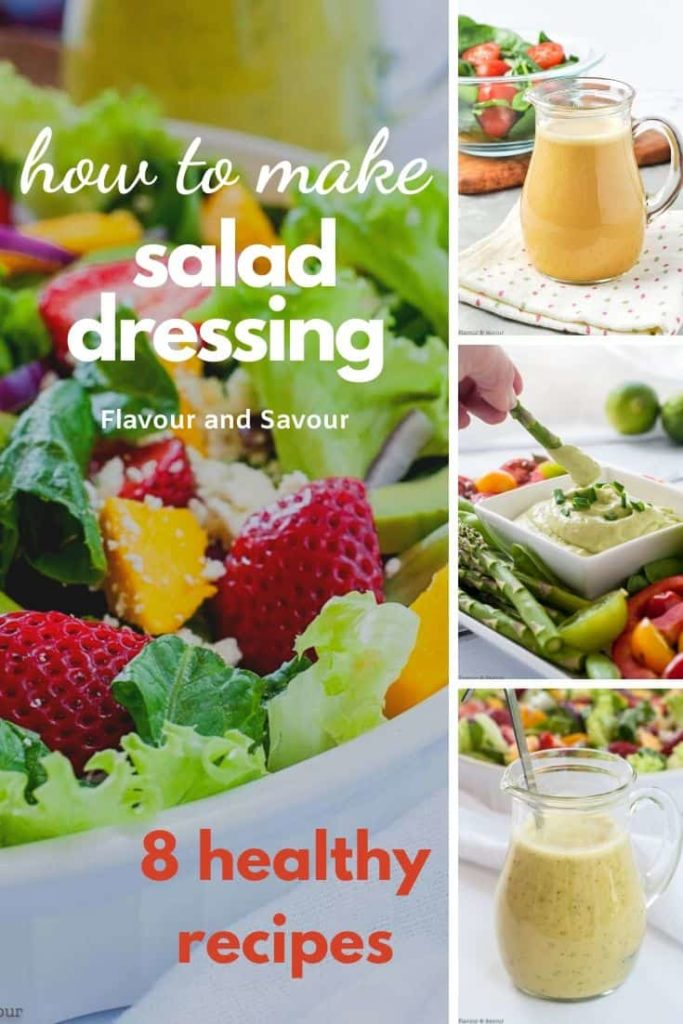 Pinterest pin for how to make salad dressing 1