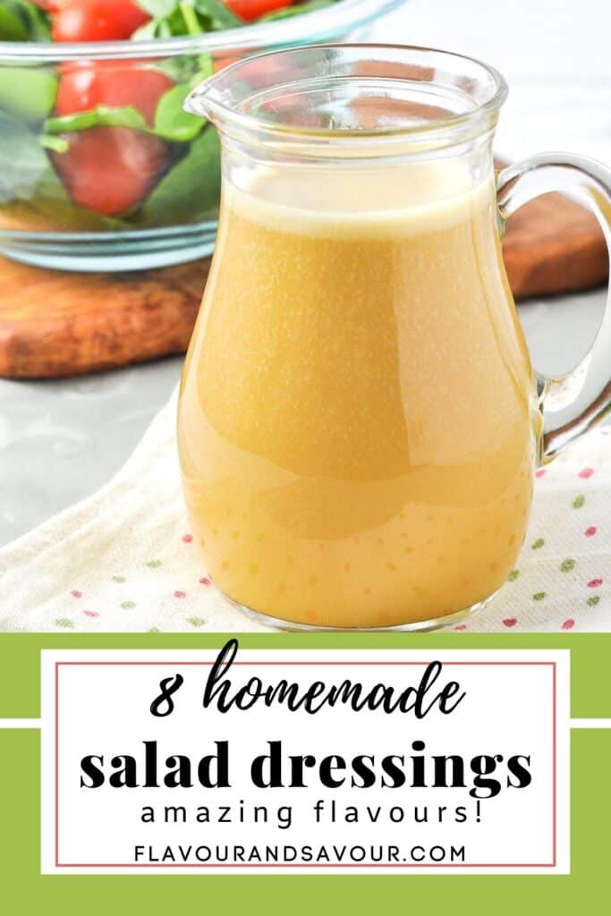8 homemade salad dressings image and text