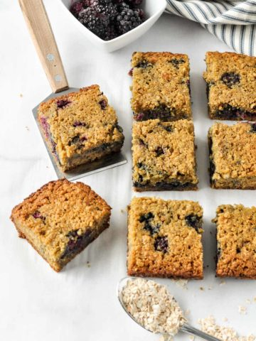 Blackberry Oatmeal Breakfast Bars cooling