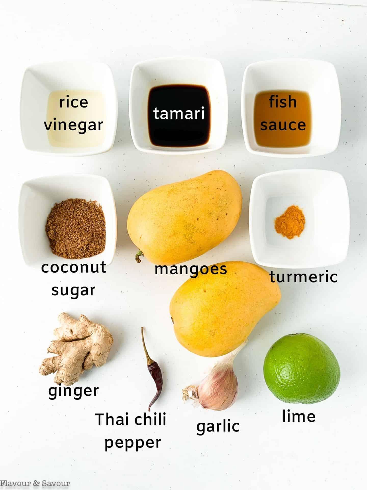 Ingredients for Thai Mango Chicken