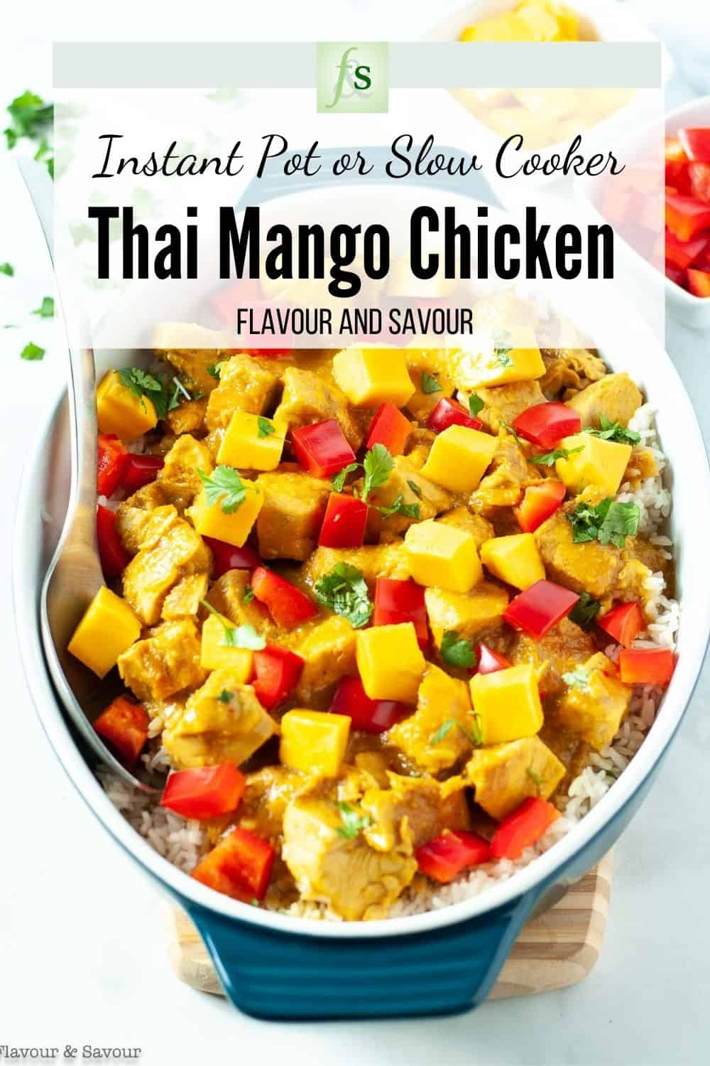 Text and Image for Thai Mango Chicken