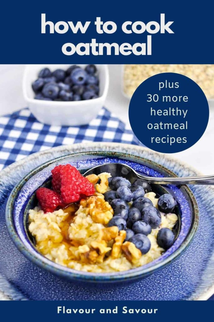 Pinterest pin for How to Cook Oatmeal