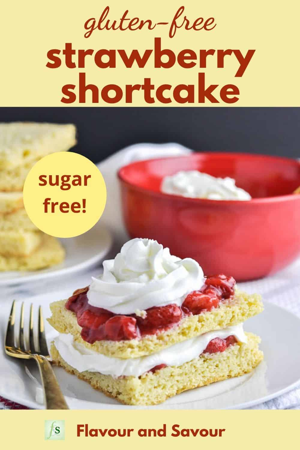 Pinterest PIn Gluten-Free Strawberry Shortcake