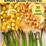 Pin for Sheet Pan Lemon Garlic Prawns