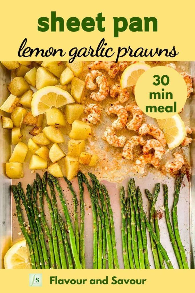 Pin for Sheet Pan Lemon Garlic Prawns