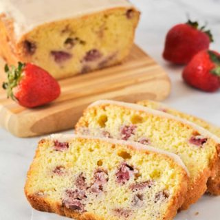 Strawberry Lemon Loaf sliced