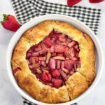 overhead view of Gluten-Free Strawberry Rhubarb Galette