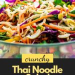 Pinterest pin for Thai Salad with Peanut Sauce