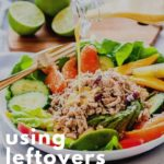 Using leftovers creatively to avoid food waste Pinterest pin