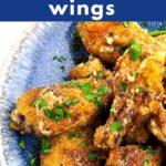 Air Fryer Garlic Parmesan Wings pin