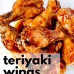 Air Fryer Teriyaki Wings with text overlay