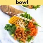 Pinterest Pin for Vietnamese Prawn Noodle Bowl