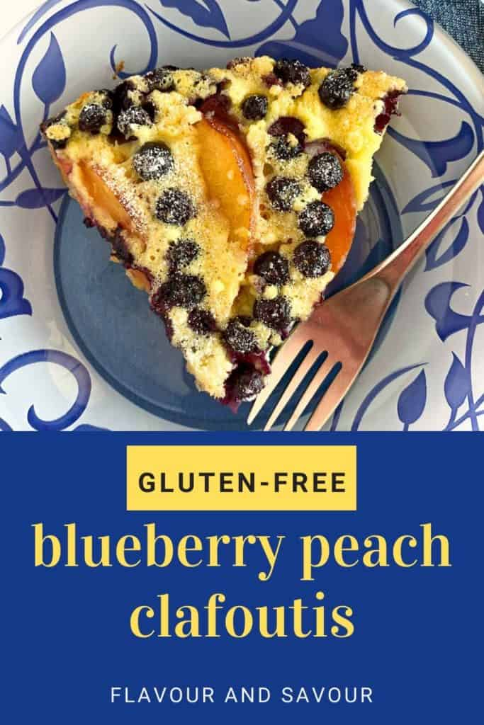 Blueberry Peach Clafoutis Pinterest pin