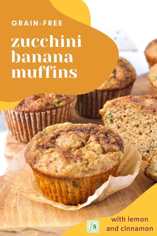 Text overlay on Grain-Free Zucchini Banana Muffins