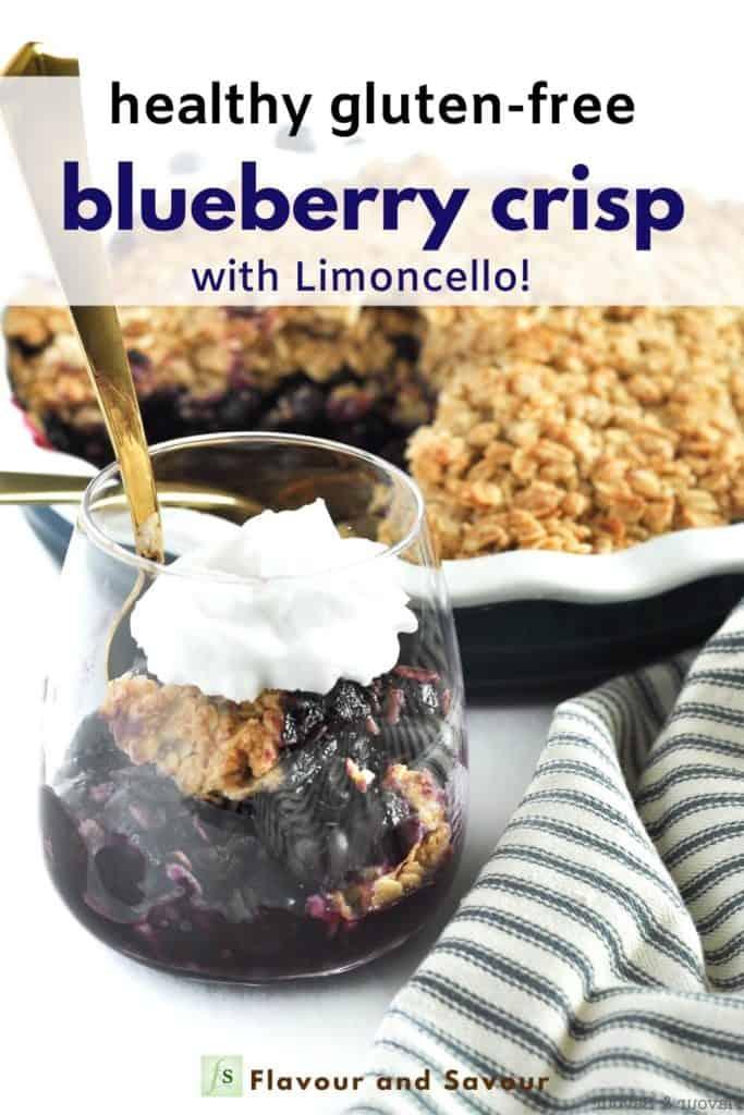 Pinterest pin for Gluten-Free Blueberry Crisp