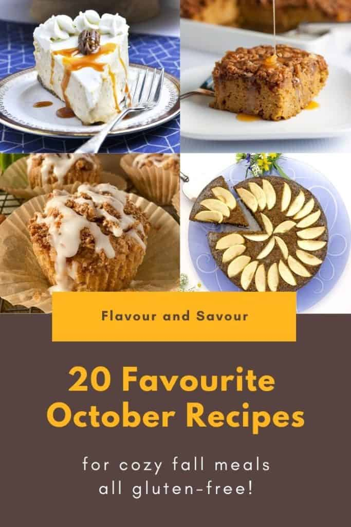 Title and Collage 20 Favourite October Recipes