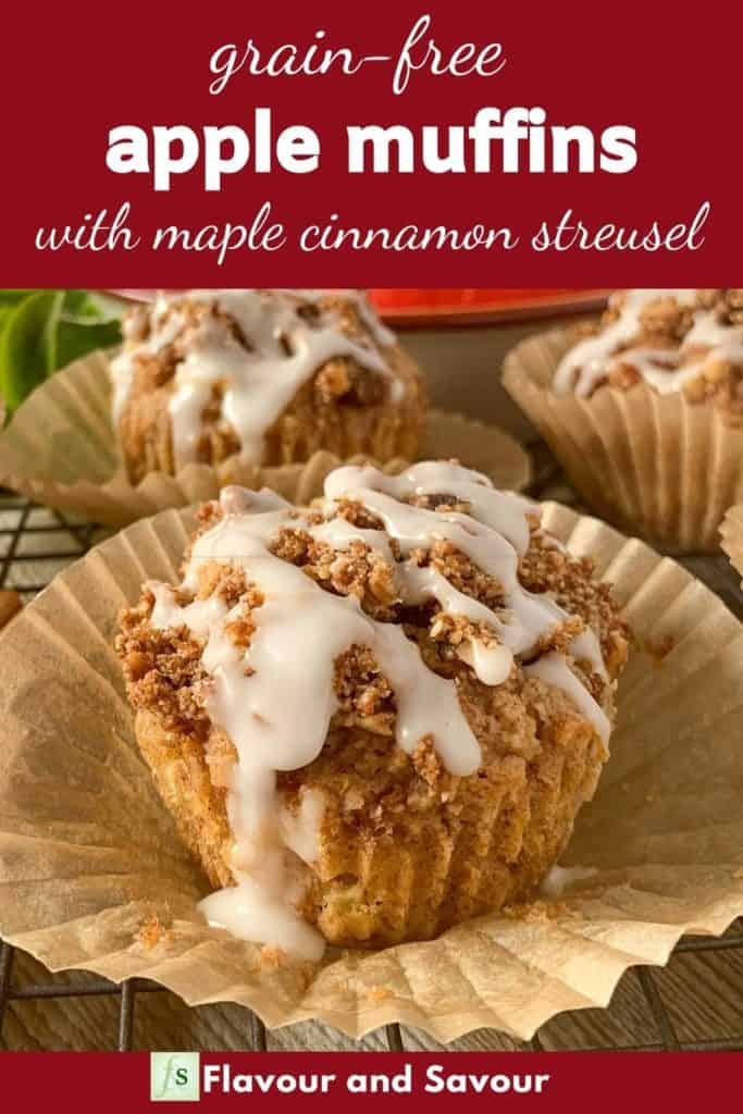 Image with text overlay for Apple Muffins