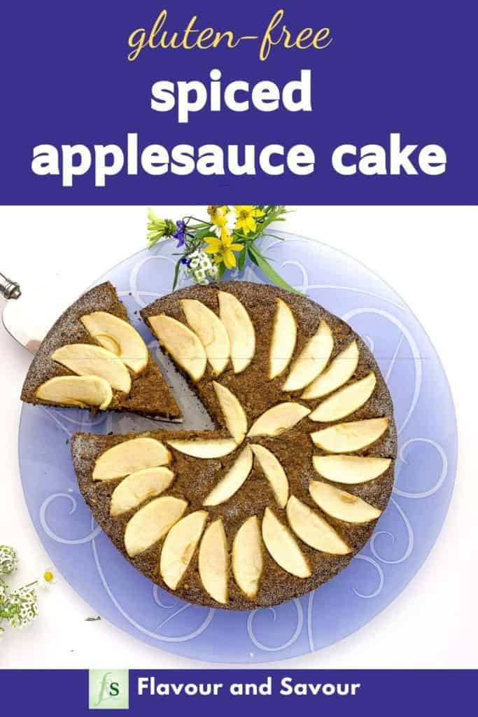 Image for Spiced Applesauce Cake with text overlay
