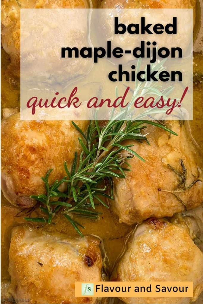 Baked Maple Dijon Chicken image with text overlay