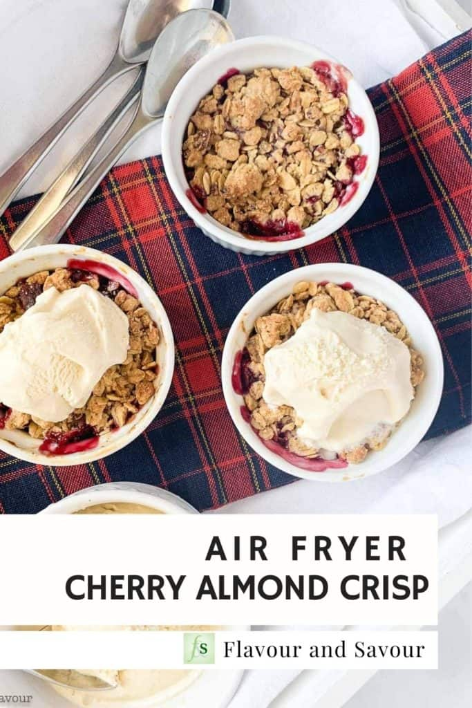 Image and text Air Fryer Cherry Crisp
