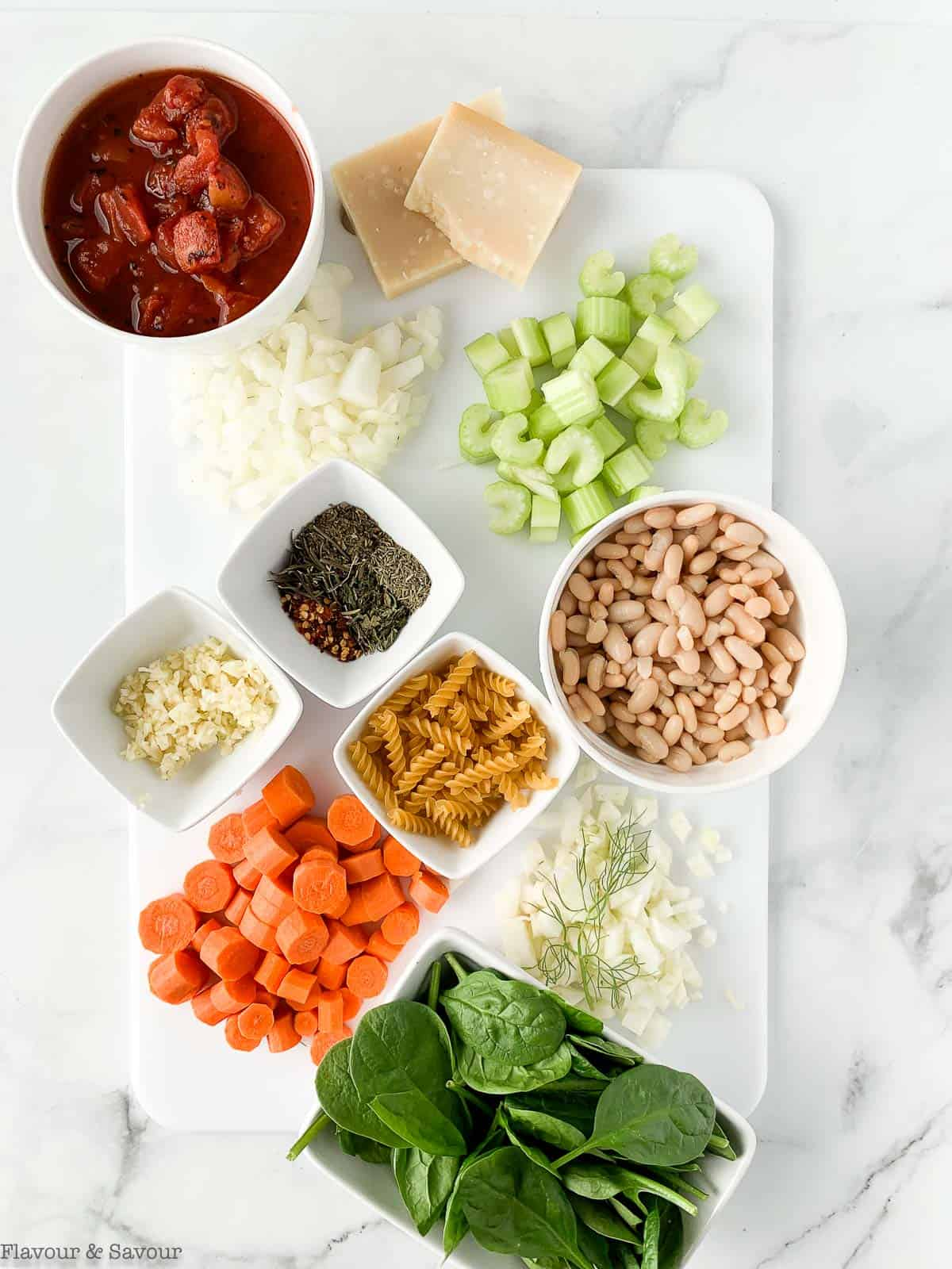 ingredients for Instant Pot Minestrone Soup