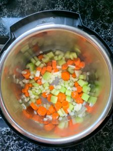 Preparing Minestrone Soup step 1