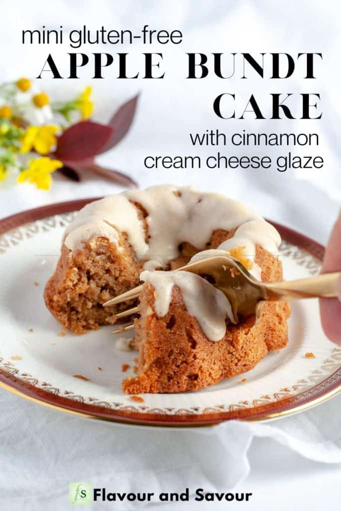 Image and text overlay for Mini Apple Bundt Cake