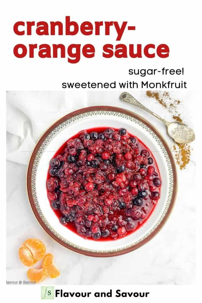 text and image for Sugar-Free Cranberry-Orange Sauce