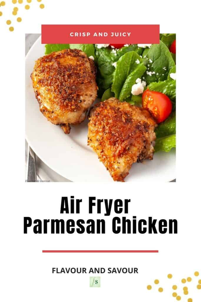 Image and text for Air Fryer Parmesan Chicken