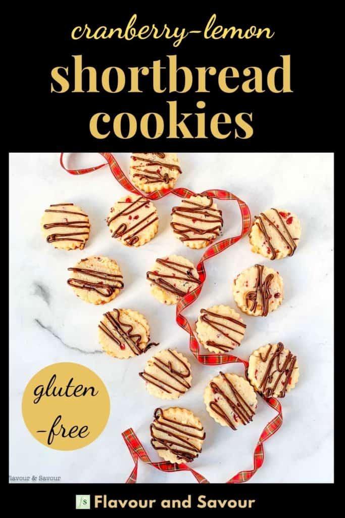 Pinterest pin for Gluten-Free Almond Shortbread Cookies