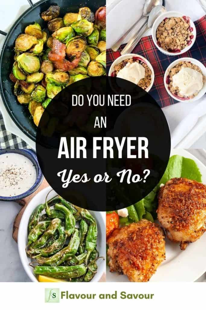 Image with text overlay for Do you need an air fryer?