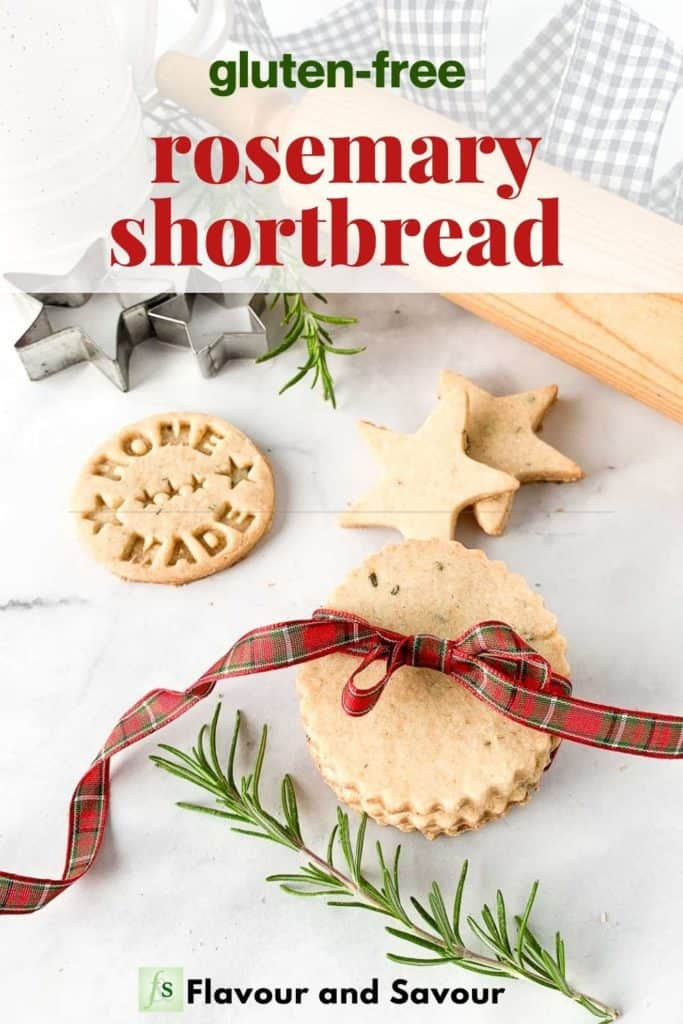 Image and text for Rosemary Shortbread Cookies