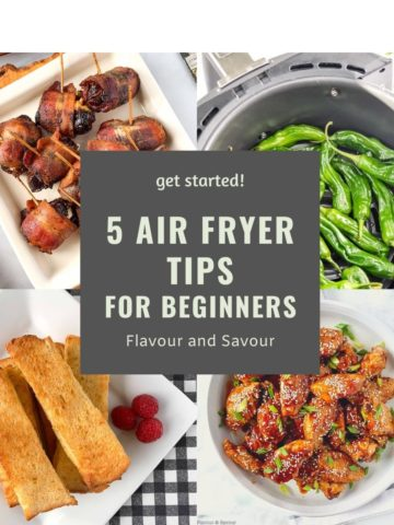 5 Air Fryer Tips for Beginners collage