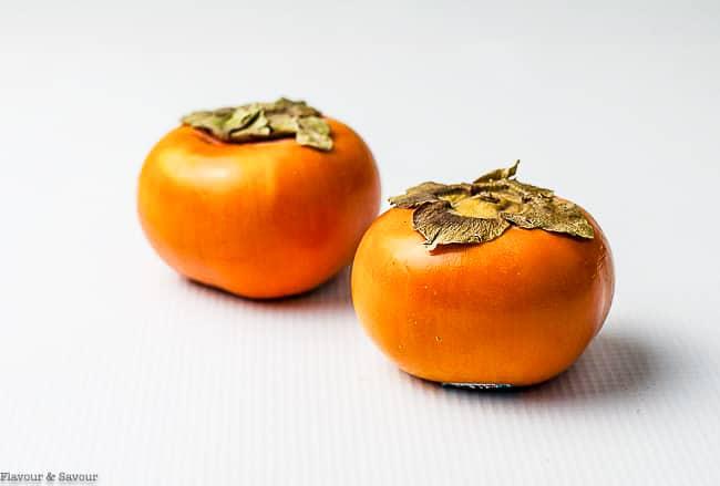 Two Fuya persimmons