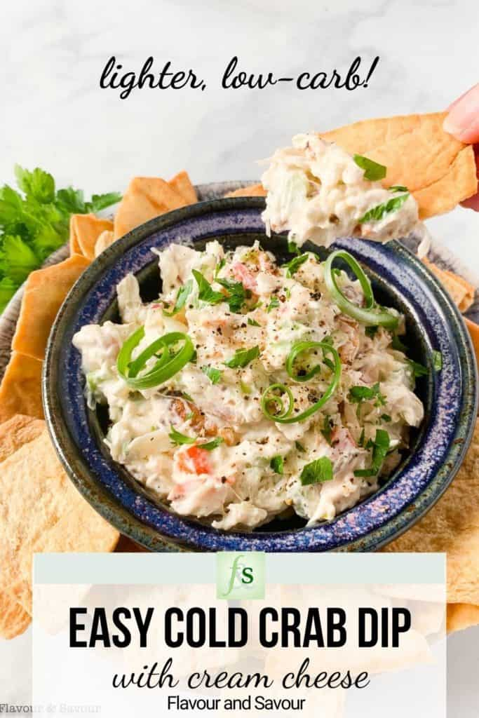 Easy Bold Crab Dip image with text overlay