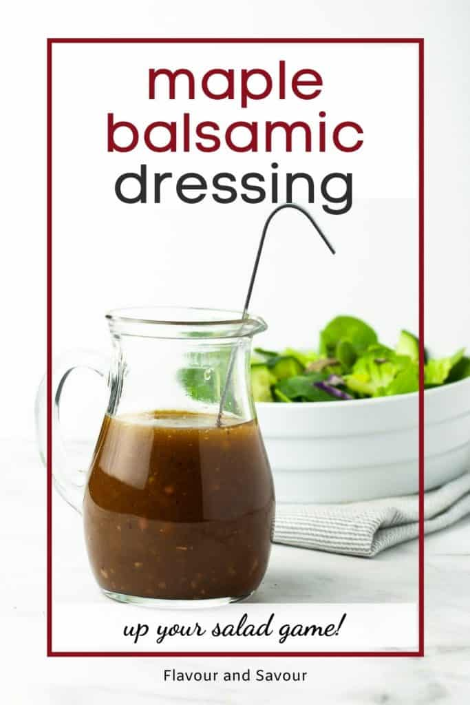 Image with text overlay Maple Balsamic Dressing