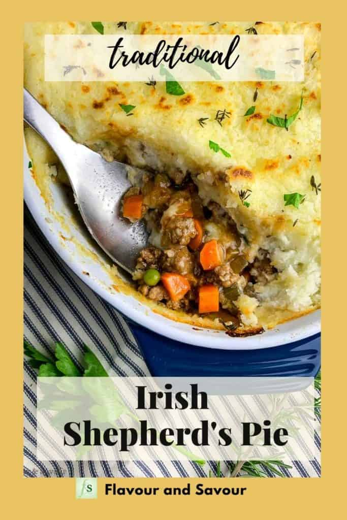 Text and image for Traditional Irish Shepherd's PIe