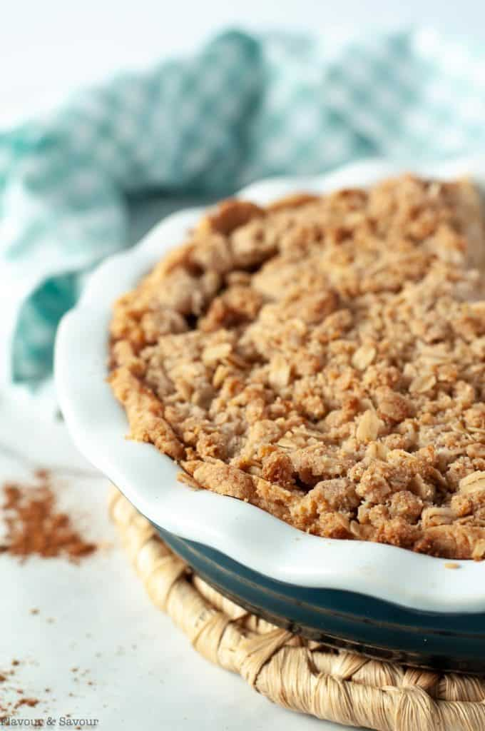 Baked Dutch Apple Pie with Almond Flour Crust and Crumble topping