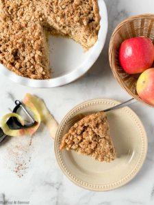 A slice of gluten-free Dutch Apple Pie