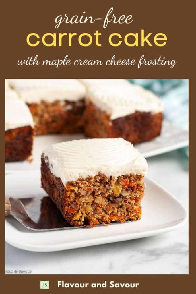Image and text for Grain-free Carrot Cake with Maple Cream Cheese Frosting