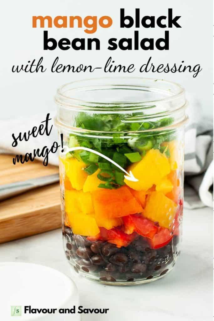 Mango Black Bean Salad in a Mason Jar