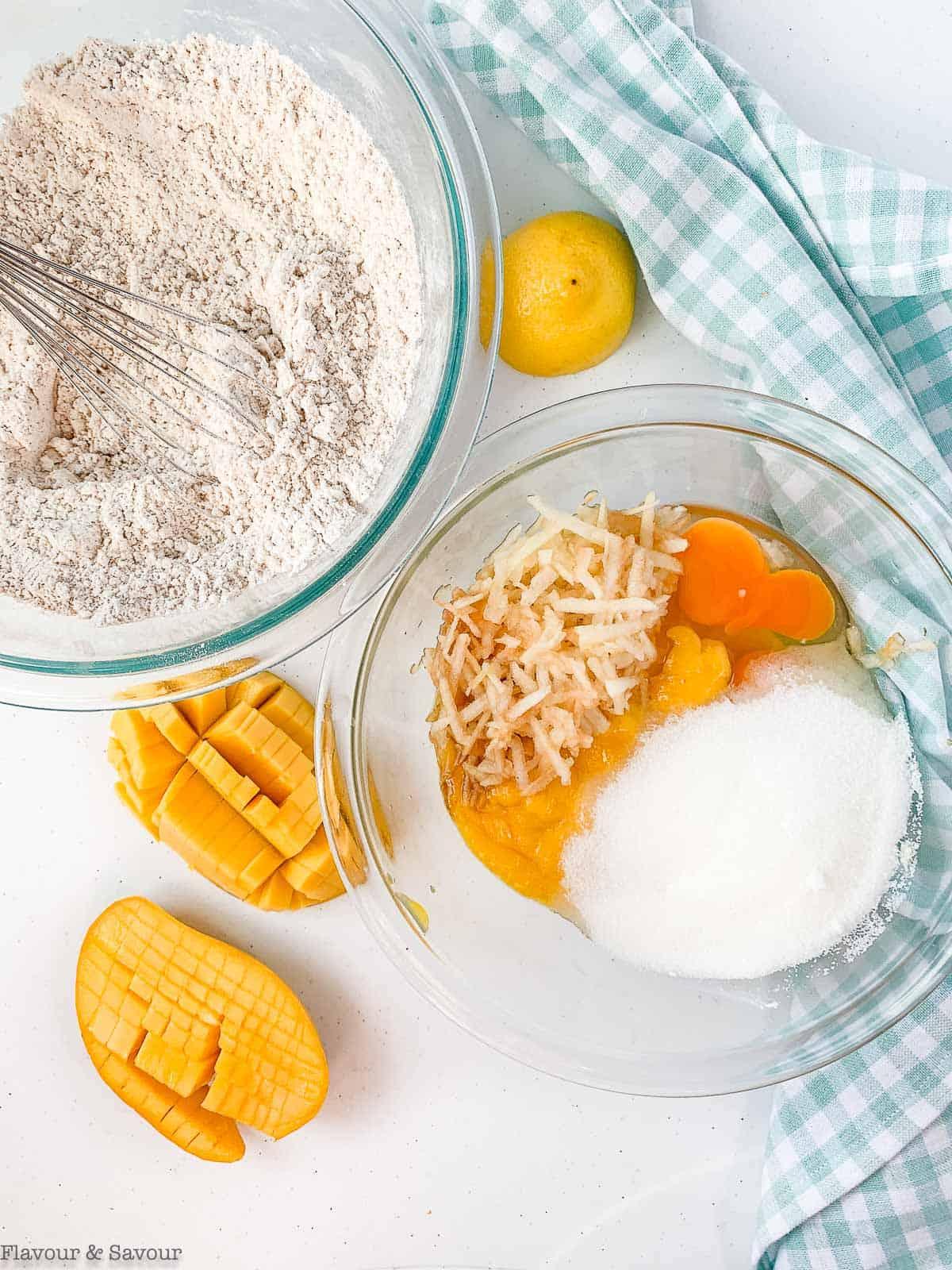 Ingredients for Gluten-Free Mango Muffins