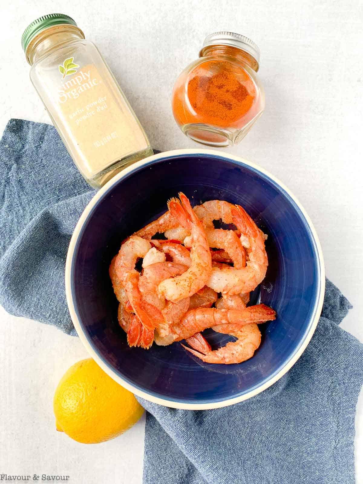 Ingredients for Air Fryer Lemon Garlic Shrimp