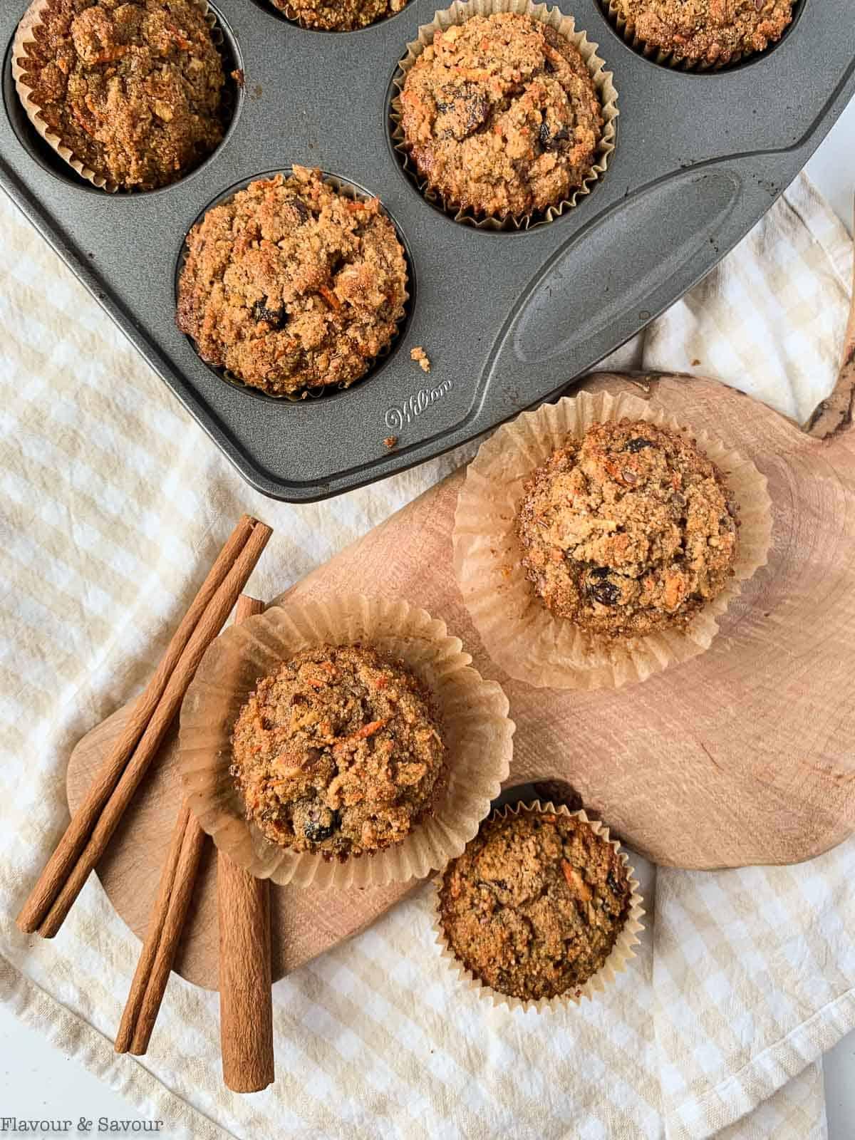 Gluten-free Sunshine Muffins overhead view