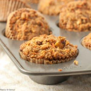 A Sunshine Muffin in a muffin tin