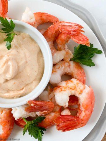 air fryer lemon garlic shrimp